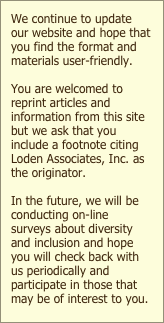 We continue to update our website and hope that you find the format and materials user-friendly.
